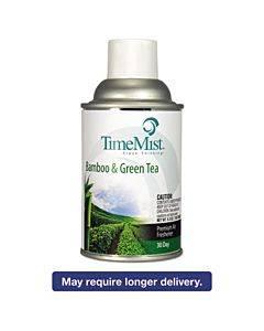 Premium Metered Air Freshener Refill, Bamboo/green Tea, 6.6 Oz Aerosol, 12/carton