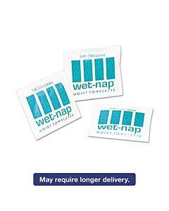 Wet-nap Premoistened Towelettes, 5 X 7 3/4, White, 100/pack, 10 Packs/carton