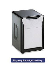Tabletop Napkin Dispenser, Low Fold, 3 3/4 X 4 X 5 1/2, Capacity: 150, Black