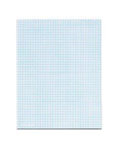 Quadrille Pads, 6 Sq/in Quadrille Rule, 8.5 X 11, White, 50 Sheets