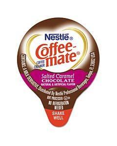 Liquid Coffee Creamer, Salted Caramel Chocolate, 0.38 Oz Mini Cups, 50/box