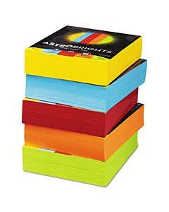 Color Paper - Five-color Mixed Carton, 24 Lb, 8.5 X 11, Assorted, 500 Sheets/ream, 5 Reams/carton