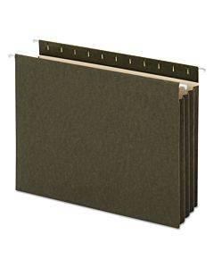 Hanging Box Bottom File Pockets, Letter Size, Standard Green, 10/box