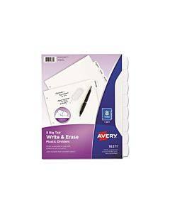 Write-on Big Tab Plastic Dividers, 8-tab, Letter
