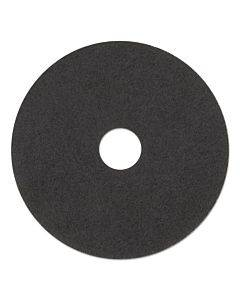 "Stripping Floor Pads, 19"" Diameter, Black, 5/carton"