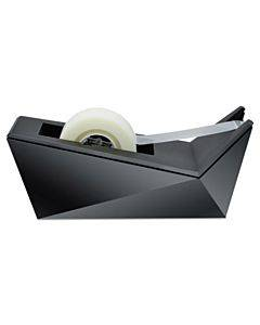 """Facet Design One-handed Dispenser, With 3/4 X 350 Tape Roll, 1"""" Core, Black"""