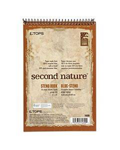 Second Nature Recycled Notebooks, Gregg Rule, 6 X 9, White, 70 Sheets