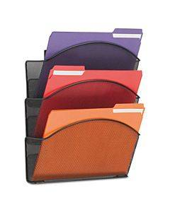 Onyx Steel Triple Wall Pocket, Letter, Black, 12 X 3 1/4 X 17 1/4