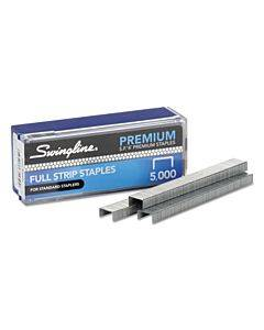 "S.f. 4 Premium Staples, 0.25"" Leg, 0.5"" Crown, Steel, 5,000/box"