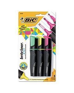 Brite Liner 3 'n 1 Highlighters, 3 'n 1 Chisel Tip, Assorted Colors, 3/set