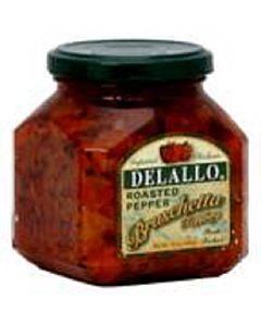 Delallo - Roasted Pepper Bruschetta - Case Of 6 - 10 Oz.