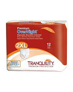 Tranquility Xxl Premium Daytime Disposable Absorbent Underwear Part No. 2108 (12/package)