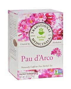 Traditional Medicinals Pau D'arco Caffeine Free Herbal Tea - 16 Bags