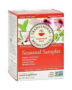 Traditional Medicinals Seasonal Herb Tea Sampler - Caffeine Free - 16 Bags