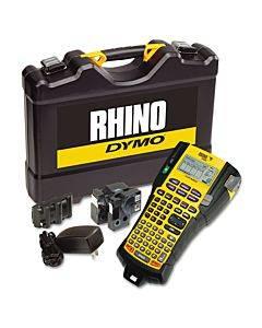 Rhino 5200 Industrial Label Maker Kit, 5 Lines, 4 9/10w X 9 1/5d X 2 1/2h