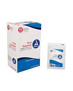 Dynarex  Sterile Oval Eyepad  Sterile 2 5/8  X 1 5/8  50 Pouches/ Bx Part No.3360