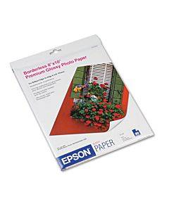 Premium Photo Paper, 10.4 Mil, 8 X 10, High-gloss Bright White, 20/pack