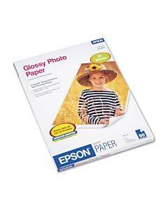 Glossy Photo Paper, 9.4 Mil, 8.5 X 11, Glossy White, 50/pack