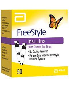 Freestyle Insulinx Blood Glucose Test Strip (50 Count) Part No. 71231-70 (50/box)