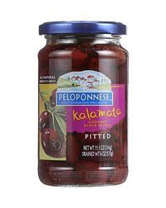 Peloponese Olives - Kalamata - Pitted - 6 Oz - Case Of 6