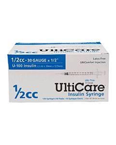 "Ulticare Syringe 30g X 1/2"", 1/2 Ml (90 Count) Part No. 91004 (90/box)"