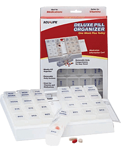 Acu-life Deluxe Pill Organizer 'one Week Plus Today' Part No. 400407 (1/ea)