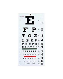 Graham Field Health Snellen Eye Chart- 22 L X 11 W Part No.1240