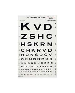 Graham Field Health Illuminated Eye Chart-snellen 10' Distance Part No.1264