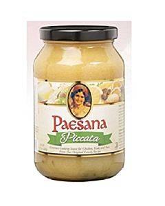 Paesana Cooking Sauce - Piccata - Case Of 6 - 15.75 Oz.