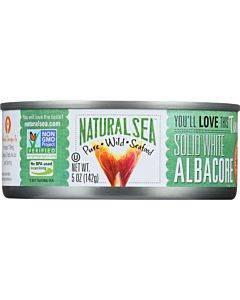 Natural Sea Wild Albacore Tuna - Unsalted - Case Of 12 - 5 Oz.