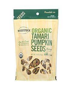 Woodstock Organic Tamari Pumpkin Seeds - Case Of 8 - 9 Oz.