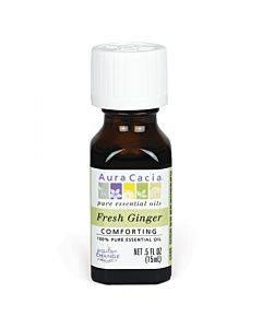 Aura Cacia - Essential Oil - Fresh Ginger - 0.5 Oz.
