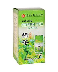 Uncle Lees Tea - Green - Premium - In Bulk - Loose - 4.23 Oz - Case Of 6