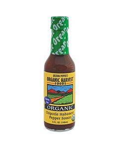 Organic Harvest Pepper Sauce - Chipotle Habanero - Case Of 12 - 5 Oz.