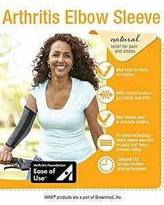 Imak Compression Arthritis Elbow Sleeve, Large Part No. A20157 (1/ea)