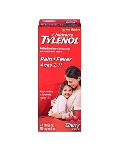 Children's Tylenol Oral Suspension Liquid, Cherry Blast, 4 Fl Oz Part No. 012304 (1/ea)