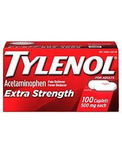 Tylenol Extra Strength, 500 Mg Acetaminophen Caplet, 100 Count Part No. 044909 (1/ea)