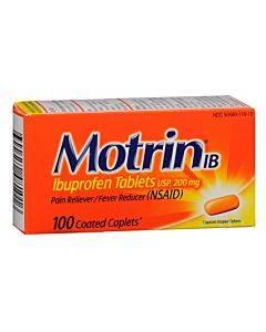 Motrin Ib 200 Mg Ibuprofen Caplets, 100 Count Part No. 048101 (1/ea)