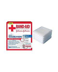 "J & J Band-aid First Aid Gauze Pads 2"" X 2"" 10 Ct Part No. 111656900 (10/box)"