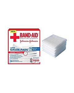 "J & J Band-aid First Aid Gauze Pads 4"" X 4"" 10 Ct Part No. 111657100 (10/box)"