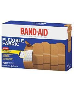 """Band-aid Flexible Fabric Adhesive Bandage 1"""" X 3"""" Part No. 004444 (100/box)"""