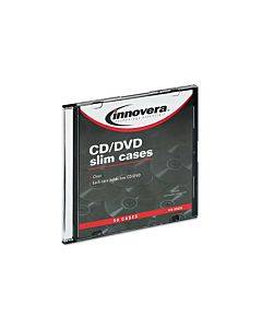 Cd/dvd Slim Jewel Cases, Clear/black, 50/pack