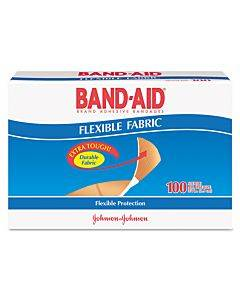 "Flexible Fabric Premium Adhesive Bandages, 3/4"" X 3"", 100/box"