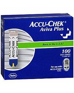 Accu-chek Aviva Plus Test Strip (100 Count) Part No. 06908268001 (100/box)