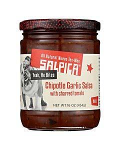 Salpica Garlic Chipotle Salsa - Roasted Tomato - Case Of 6 - 16 Oz.