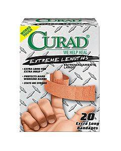 Curad Extreme Hold Fabric Adhesive Bandage, Assorted Sizes Part No. Cur14924rb (30/box)
