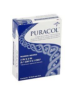 """Puracol Collagen Dressing 2"""" X 2"""", Sterile Part No. Msc8522 (1/ea)"""