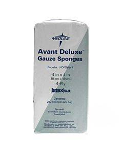 """Avant Deluxe Non-sterile Gauze Sponges, 4"""" X 4"""", 4-ply Part No. Non26444 (200/package)"""