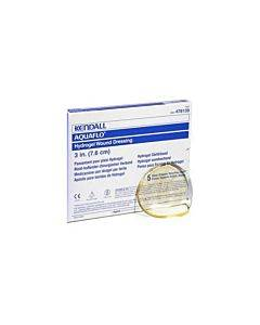 "Dermacea Aquaflo Hydrogel Wound Dressing Disc 4-3/4"" Part No. 8884476154 (5/box)"