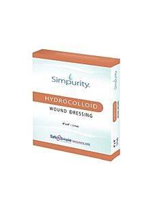 "Safe N Simple Simpurity Hydrocolloid, 4"" X 4"" Part No. Sns55404 (12/box)"